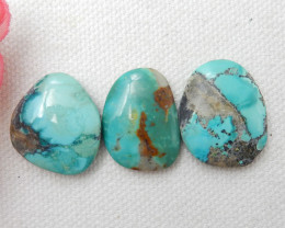 43ct Turquoise Cabochons,Lucky Turquoise Gemstone ,Healing Stone E487