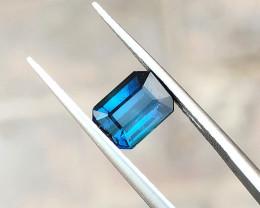 1.45 Ct Natural Blueish Transparent Tourmaline Ring Size Gemstone