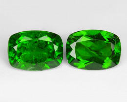 1.72 Cts 2pcs Natural Green Color Chrome Diopside Loose Gemstone
