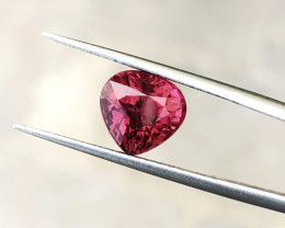 3.25 Ct Natural Rubellite Tourmaline Transparent Heart Shape Gemstone