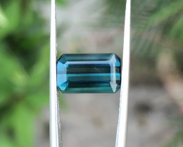 2.80 Ct Natural Blue Indicolite Transparent Tourmaline Gemstone