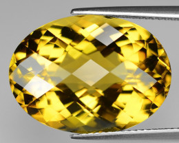 20.84 Cts  Excellent rare Fancy Golden Yellow Color Prasolite Natural Gemst