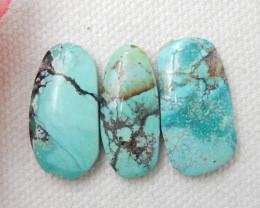 3pcs Turquoise Cabochons ,Handmade Gemstone ,Turquoise Cabochons ,Lucky Sto