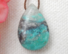 16cts Turquoise Drilled teardrop Pendant Bead ,Lucky Gemstone,Wholesale E48