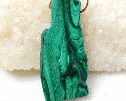91cts Malachite Gemstone Pendant,Nugget Malachite E458