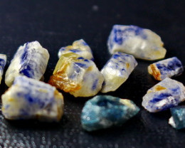 64.00 Unheated  Blue Sapphire Clean Facet Rough Lot
