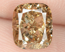 1.55 Untreated Fancy Intense Vivid Brownish Orange Natural Loose Diamond-VS