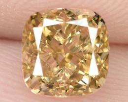 1.13 Untreated Fancy Intense Vivid Brownish Orange Natural Loose Diamond-VS