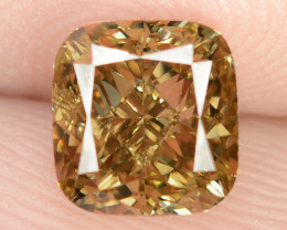 1.18 Untreated Fancy Intense Vivid Brownish Orange Natural Loose Diamond-VS