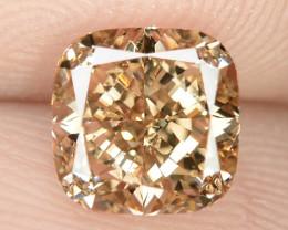 1.12 Untreated Fancy Intense Vivid Brownish Orange Natural Loose Diamond-VS