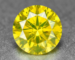0.40  Cts Sparkling Fancy Parrot Green Natural Loose Diamond -Si1