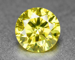0.37 Cts Sparkling Fancy Parrot Green Natural Loose Diamond -Si1