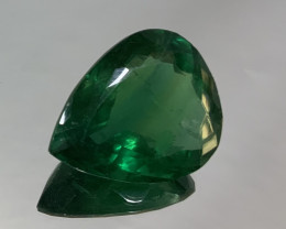 148.05ct  Green Fluorite Big Drop 37.3x30.8mm (SKU101)