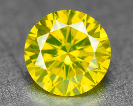 0.35 Ct Sparkling Fancy Parrot Green Natural Loose Diamond -Si1