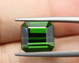 **AAA QUALITY** 12.31ct Lab Certified Natural  Green Tourmaline