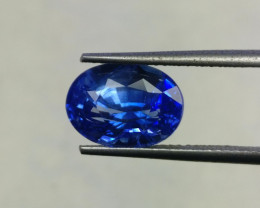 CERTIFIED 4.21 CTS AWESOME CORNFLOWER  BLUE SAPPHIRE HEATED FACETED GENUINE