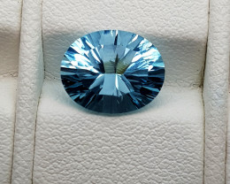 3.25Crt Concave Blue Topaz Natural Gemstones JI56