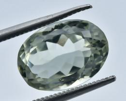 5.64 Crt Natural Prasiolite Green Amethyst Faceted Gemstone.( AB 20)