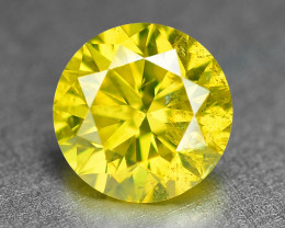 0.36 Cts Sparkling Fancy Vivid Yellow Natural Loose Diamond -Si1