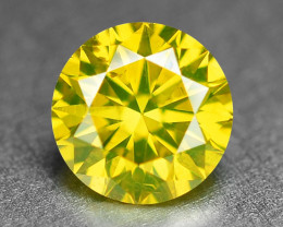 0.36 Ct Sparkling Fancy Vivid Yellow Natural Loose Diamond -SI1
