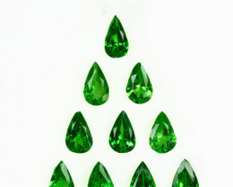2.56 Cts Natural Tsavorite Garnet 5x3mm Pear Cut 10Pcs Kenya