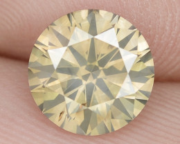 1.51 Ct Untreated Fancy Brownish Yellow Natural Loose Diamond-Si1