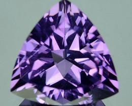 2.16 Cts Natural Purple Amethyst 9mm Trillion Bolivia