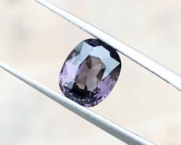 1.95 Ct Natural Purple Gray Transparent Spinal Gemstone