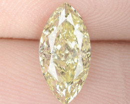 1.00 Cts Untreated Fancy Intense Yellow Natural Loose Diamond-Si1
