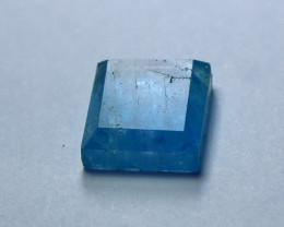 4.70 CT Natural & Unheated Blue Aquamarine Hand Made Cut Stone