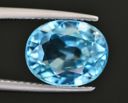 Vibrant Blue ~ 6.20 Ct Natural Zircon From Cambodia