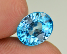 Vibrant Blue ~ 6.10 Ct Natural Zircon From Cambodia