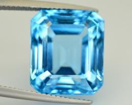 23.20 CT NATURAL BLUE SWISS TOPAZ GEMSTONE