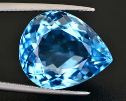 21.20 CT NATURAL BLUE SWISS TOPAZ GEMSTONE