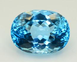 27.70  CT NATURAL BLUE SWISS TOPAZ GEMSTONE