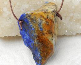 174cts Raw lapis pendant, crystal gemstone pendant,healing stone pendant E4