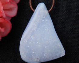 108cts Sale Raw Agate Pendant ,Nugget Blue Lace Agate Pendant ,Healing Ston