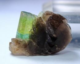 60.35Cts Beautiful, Superb  Green  Tourmaline Var Quartz Crystal Specimen