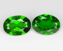 1.43  Cts Natural Green Color Chrome Diopside Loose Gemstone