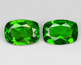 1.54 Cts 2pcs Natural Green Color Chrome Diopside Loose Gemstone