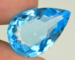27.20 CT NATURAL BLUE SWISS TOPAZ GEMSTONE