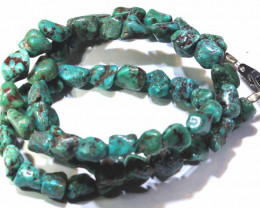 80 CTS-GREEN TURQUOISE NECKLACE   NP-393