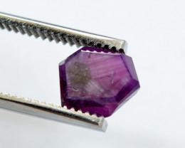 Rarest 3.15 ct Bluish Pink Kashmir Sapphire Trapiche