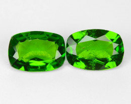1.41 Cts 2pcs Natural Green Color Chrome Diopside Gemstone