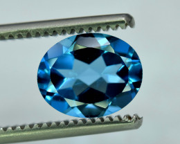 3.20 Cts  London Blue Topaz Gemstone