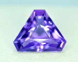 4.80 ~ Carats Fancy  Trillion Cut Natural Purple Color Amehtyst Gemstone Fr