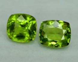 4.20  Carats Peridot Gemstone Pair