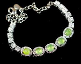 Natural Jadeite Jade Silver 925 Bracelet