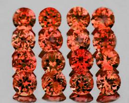 2.50 mm Round 30 pcs 2.51 cts Orange Red Garnet [VVS]