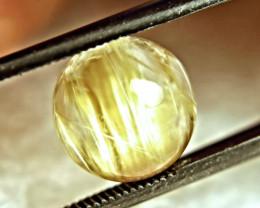 5.24 Carats Natural Golden Rutile Quartz Cabochon